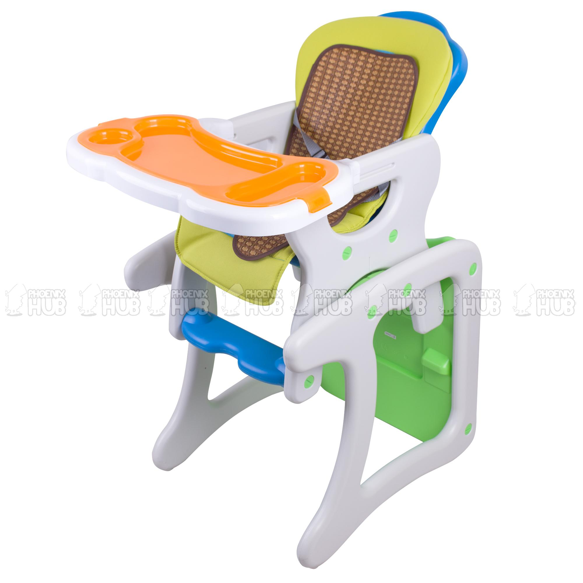 Picture of: Phoenix Hub Hc31 4 In 1 Baby High Chair Study Table Feeding Chair Premium Multi Functional Adjustable Recliner Tray Lazada Ph