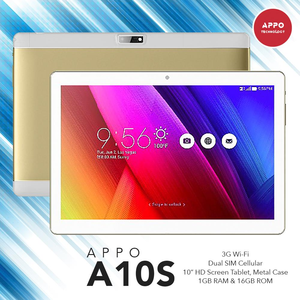 "APPO A10s  10.1"" Wi-Fi Plus Dual SIM Cellular HD Screen Metal Case Tablet 16GB (GOLD)"