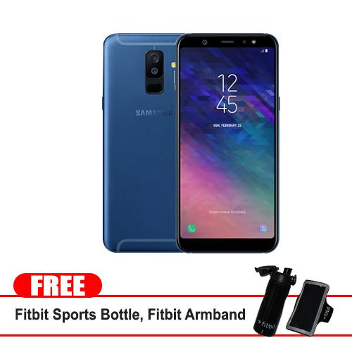"Samsung Galaxy A6 Plus 2018 32gb 6"" (Blue ) Mobile Phone With Free Fitbit Sports Bottle and Fitbit Sports Armband."