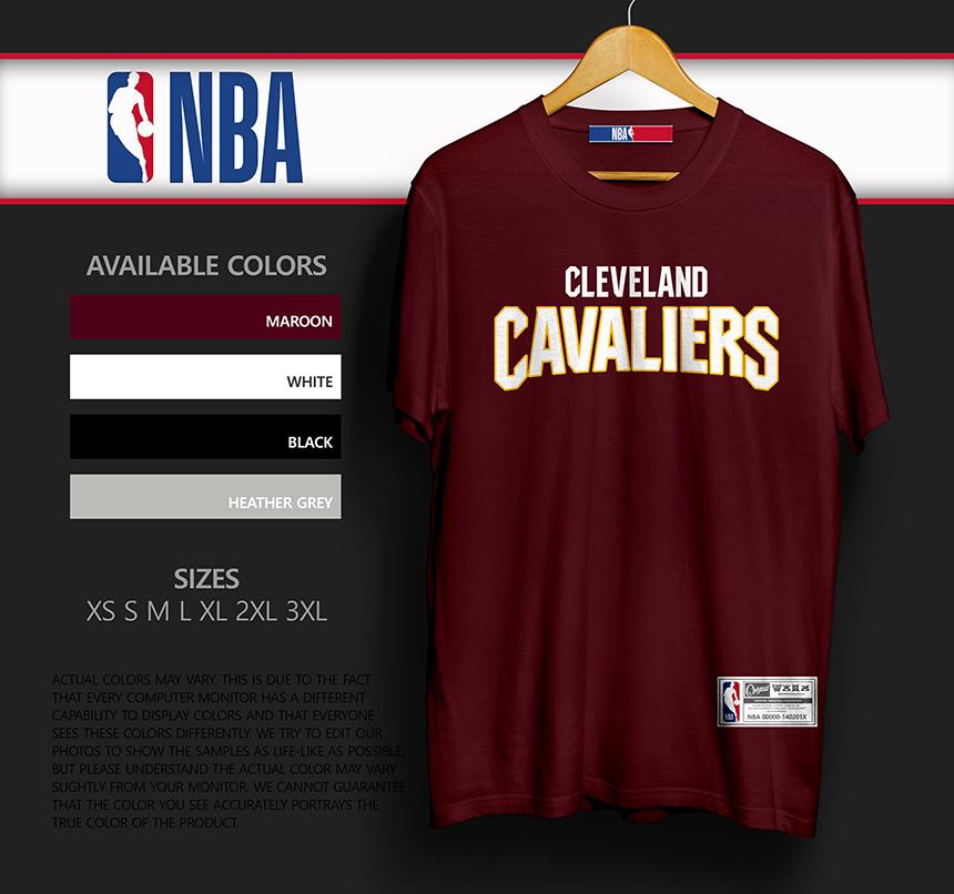 cheap for discount 1a9f0 cfea9 NBA Tee Cleveland Cavaliers