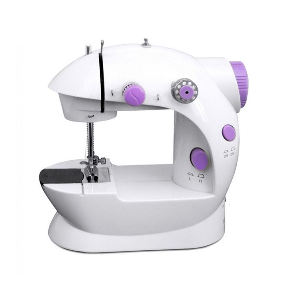 Portable Handheld Mini Electric/Charger Sewing Machine Double Thread (White/Lavender) image on snachetto.com