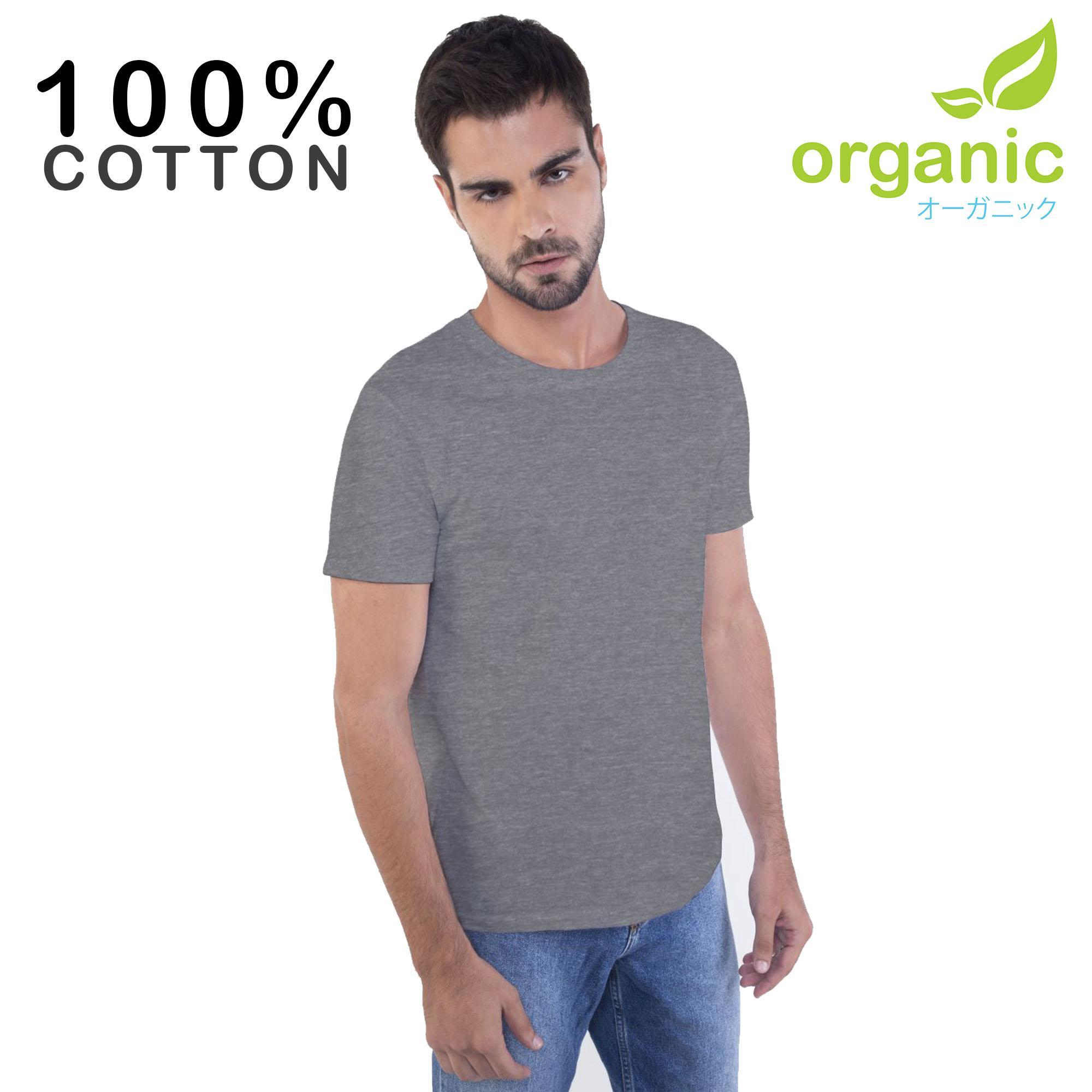 576a56f2f74 Organic Mens 100% Cotton Round neck Tees t shirt tshirt shirts tshirts tee  tops top for men