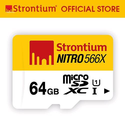 Strontium Nitro 64GB 566x Micro SD Card - thumbnail