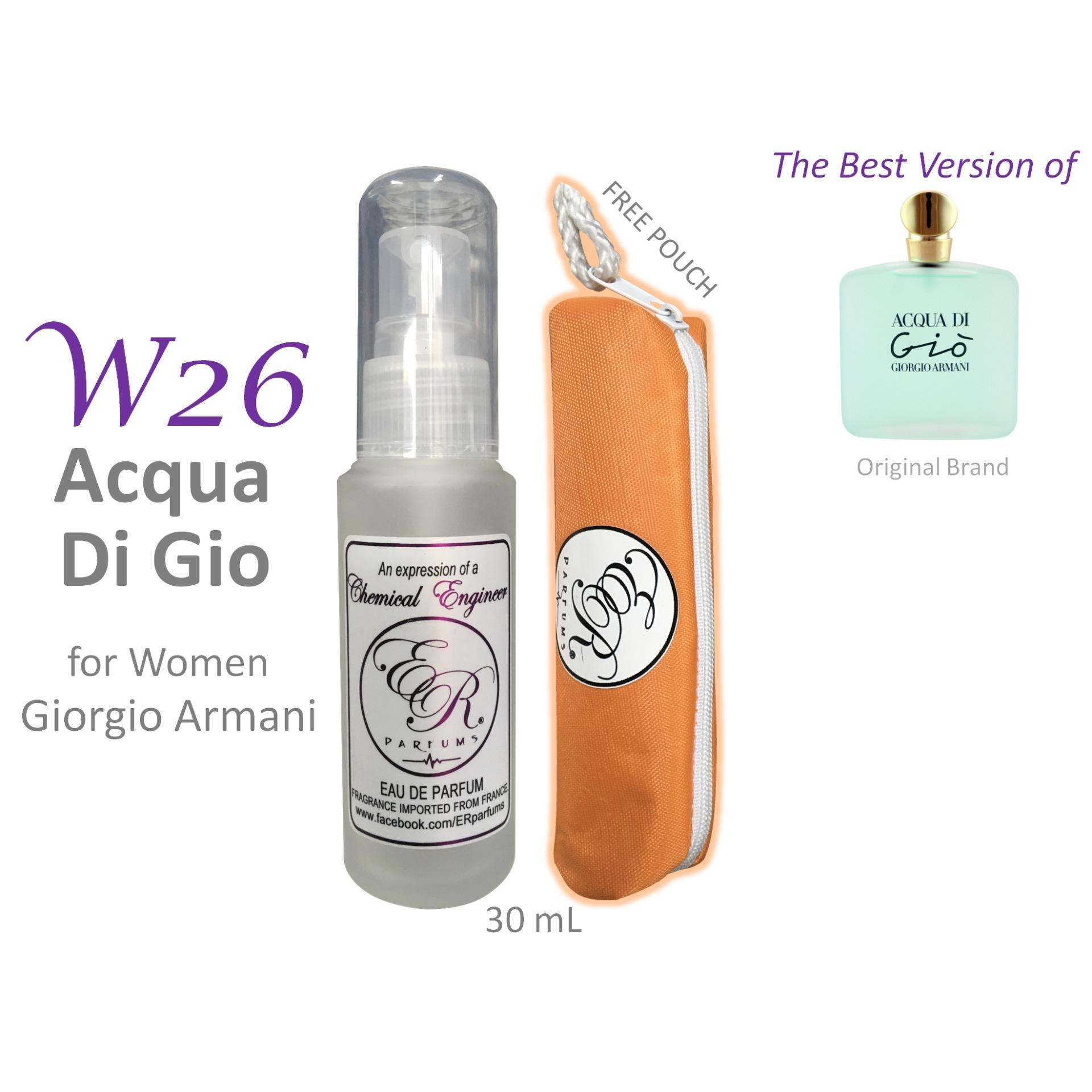 ER PARFUMS W26 Acqua Di Gio for Women by Giorgio Armani 1 piece 30 mL perfume with free pouch - BEST VERSION