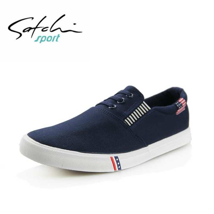satchi / satchi cloth chaussures hommes paresseux un toile pédalo toile un chaussures chaussures plates et les chaussures chaussures blanches e89fe0