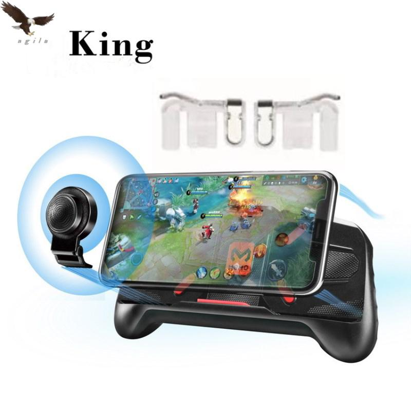 Expansible Cellphone Game Movement Controlling Handle Mobile Phone Holders A89 With Sharpshooter Metal Trigger transparent L1R1