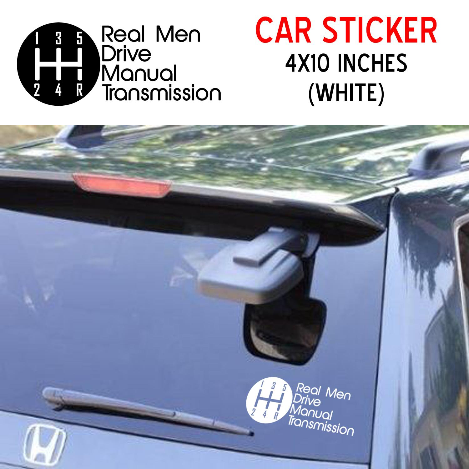 Real Men Drive Manual Transmission Car Sticker Decal White Waterproof Weatherproof Lazada Ph