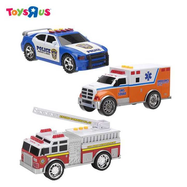 "Fast Lane 7"" Lights & Sounds 3-in-1 Emergency Vehicle"