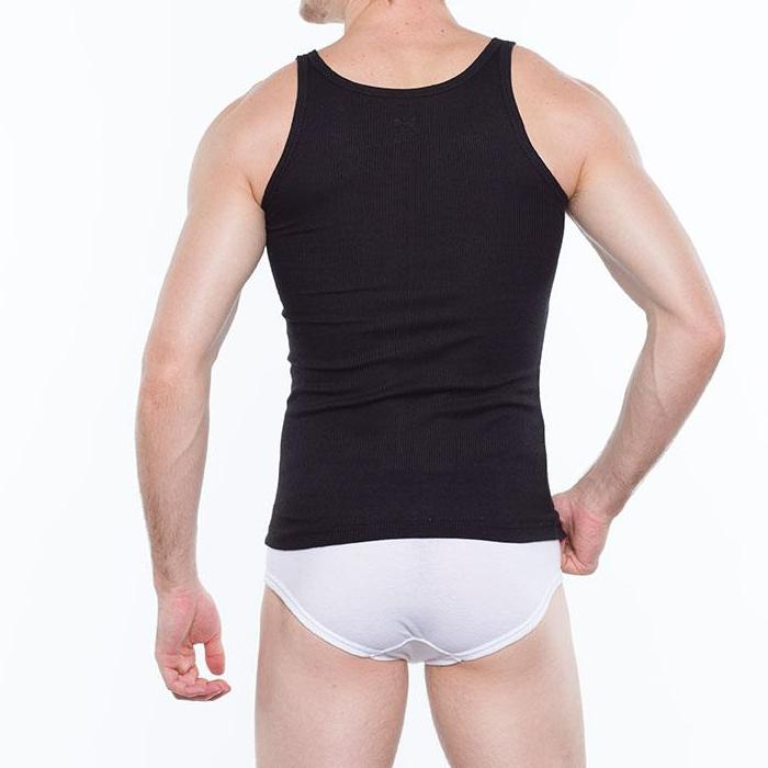 Hanford Men's Contour Tank Top (Pack of 2) (Black) - thumbnail