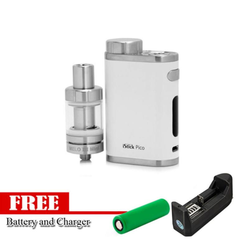 Eleaf iStick Pico 75W Starter Kit Vape E-Cigarette (Silver) With Free Battery Charger/ Battery