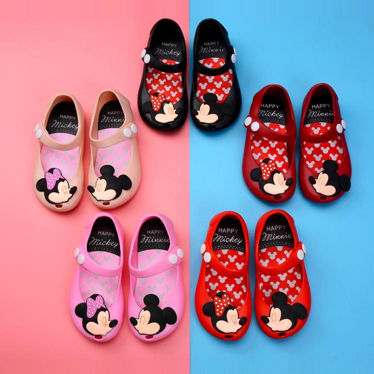 d3904c59cb00d Toddler Kids Summer Shoes Candy Color Non-Slip Beach Shoes for Girls Mouse  Jelly Shoes Mary Jane Flats Girls Clothes