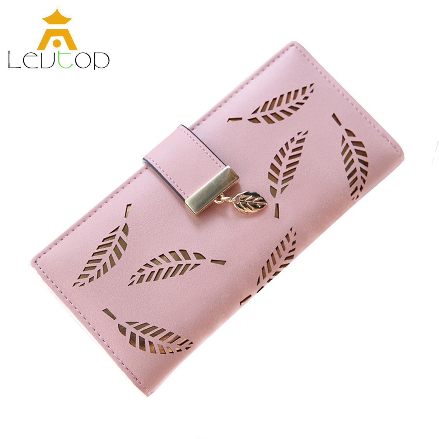 LEVTOP Women Long Wallet Purse Card Holder PU Leather ladies wallet Clutch Zipper Female Money Bag Coin Purse