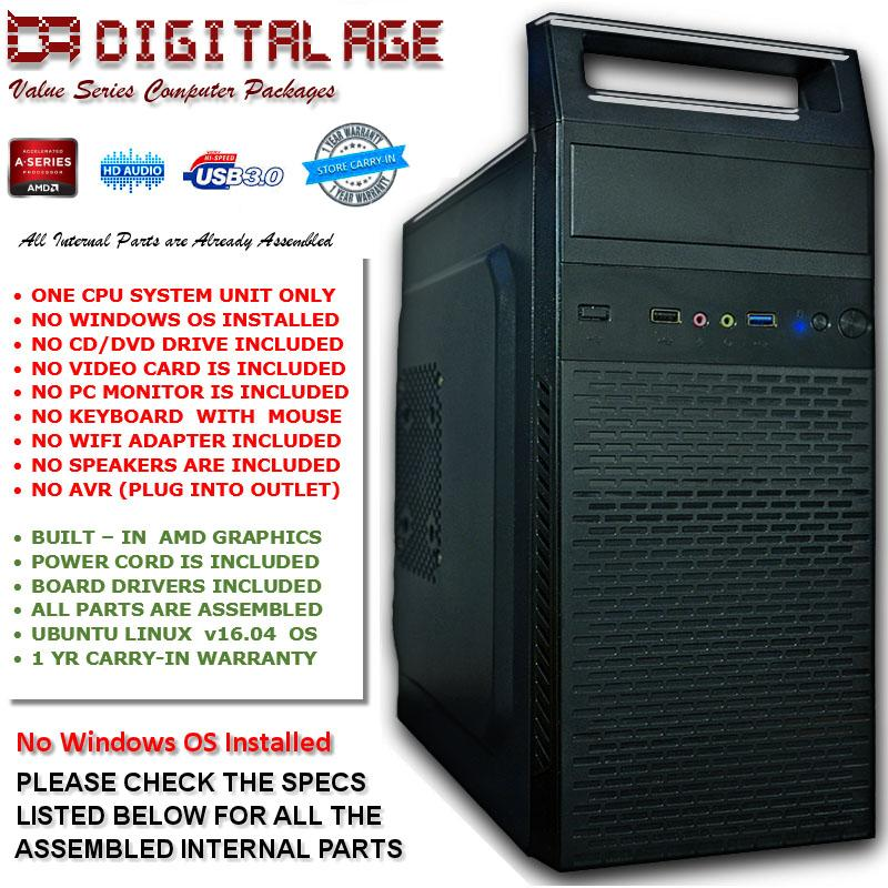Digital Age 2GB AMD A6 6400K Computer v7.0 CPU Only Package product preview, discount at cheapest price