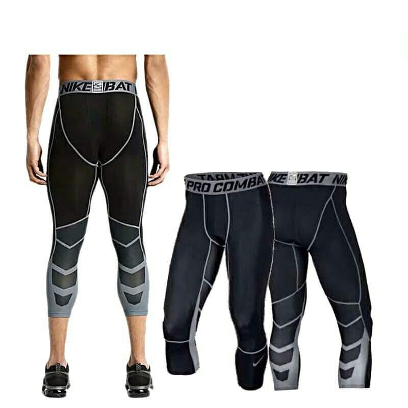 c3a4e22dae Product details of Pro combat Compression 3/4 tights #805 BLACK-Cool Dry  Sports Tights Pants Baselayer Running Leggings