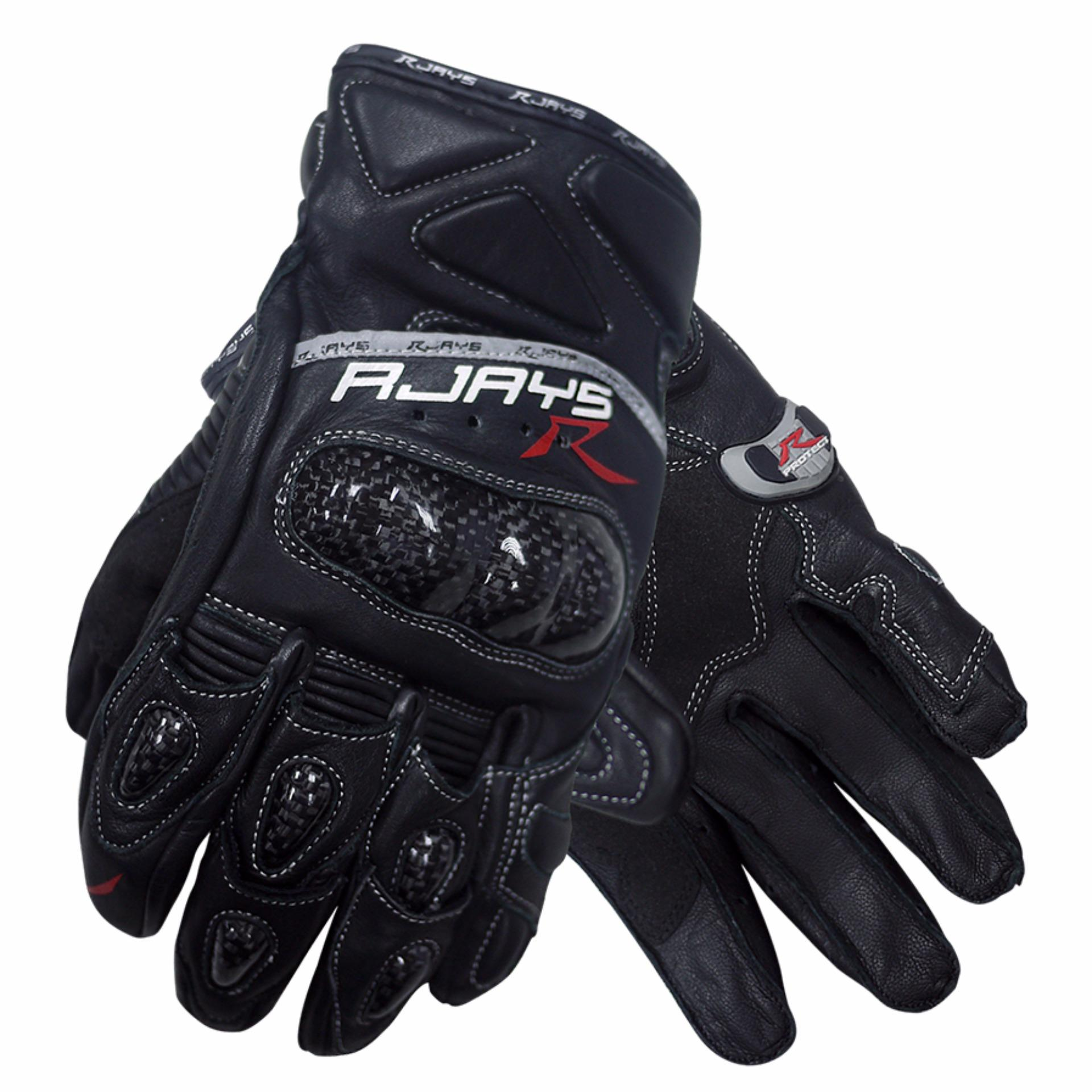 RJays Cobra II Carbon Short Gloves (Black)