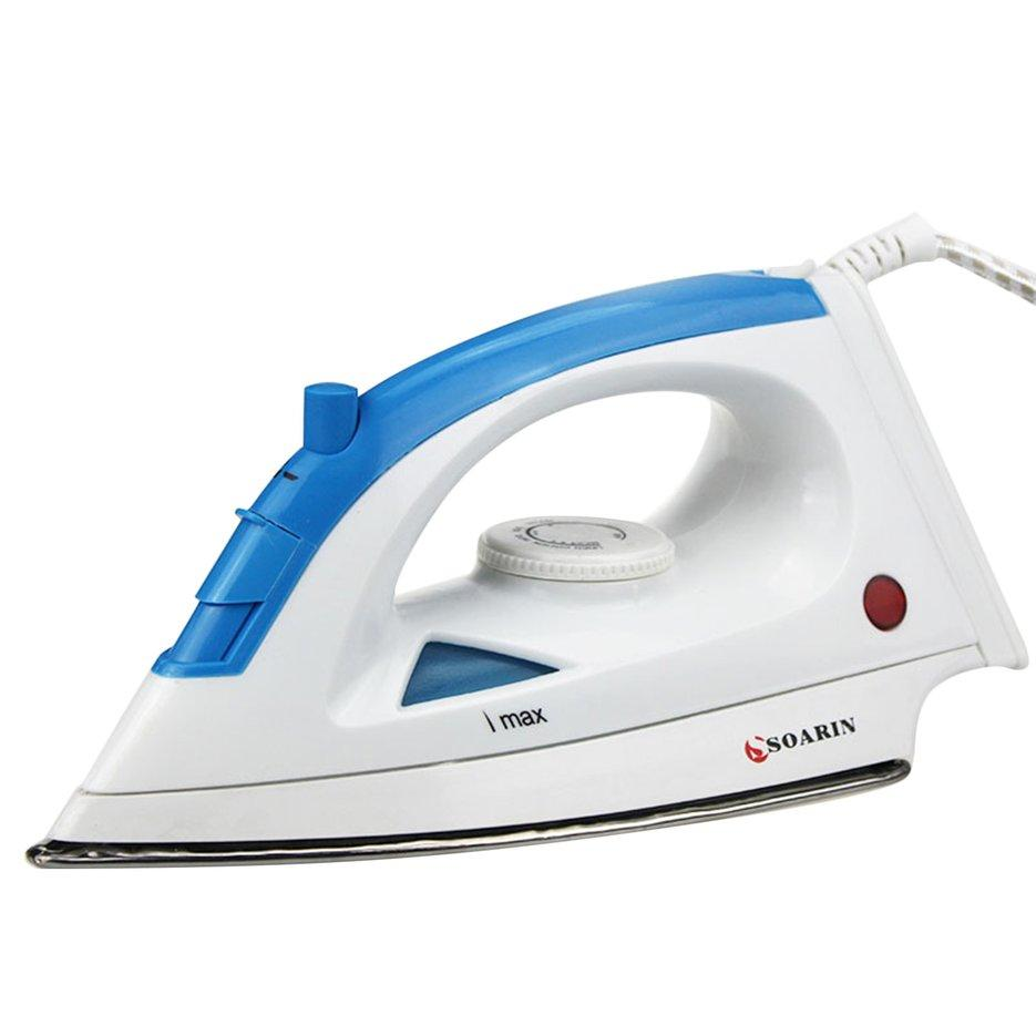 ERA Electric Steam Iron With Adjusted Temperature Stainless For Appliance Clothes Portable Household Steamer Baseplate