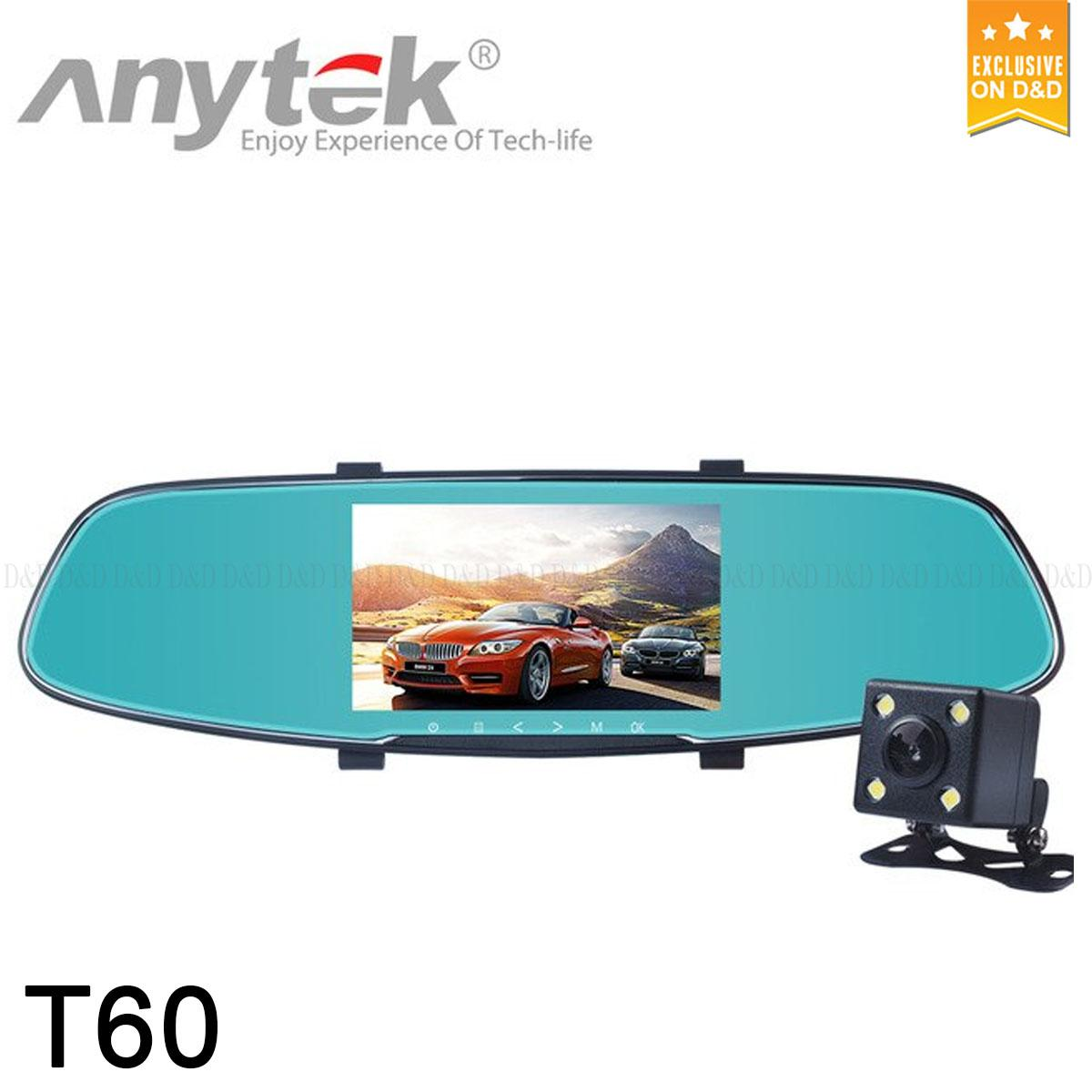 Anytek T60 Original Car Camera Full HD Hot Sale NTK96658 DVR Black Box Recorder 170 Degrees Super Night Vision Trace Cam