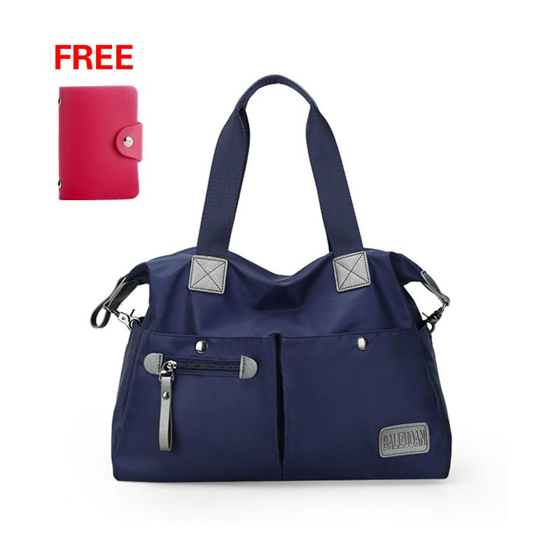 {Large Size}Women Korean Style Travel Nylon Shoulder Tote Bags - intl