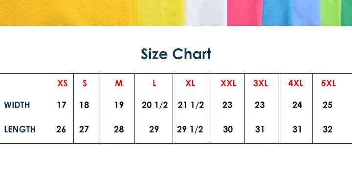 blue corner size chart polo shirt - Detikak