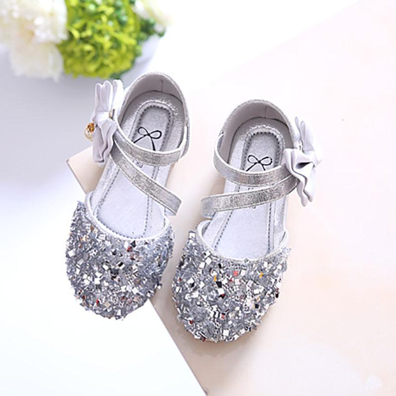 fcbf783fcfee Product details of Girls Man-made Diamond Princess Shoes 2019 Spring And  Summer New Style Children Shoes Korean Style Sequin Fashion ban liang xie  Baby ...