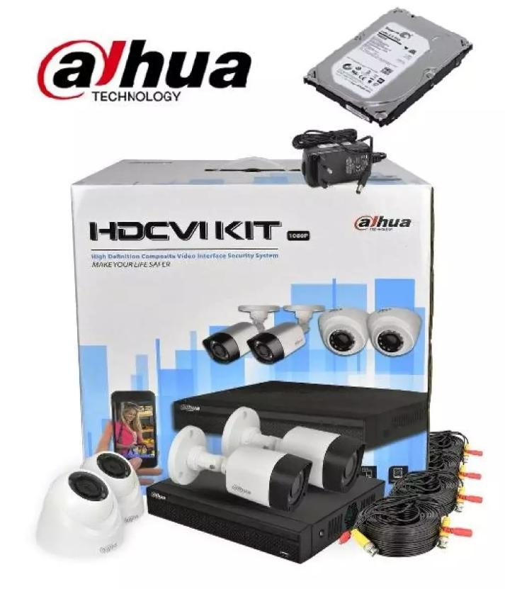 DAHUA 4 Channel Tribrid 1080P Compact 1U  XVR Security System with 4 x 1080P WITH 1TB HDD