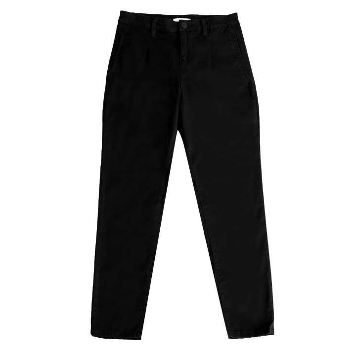 Black Sheep Relaxed Fit Slacks in Black