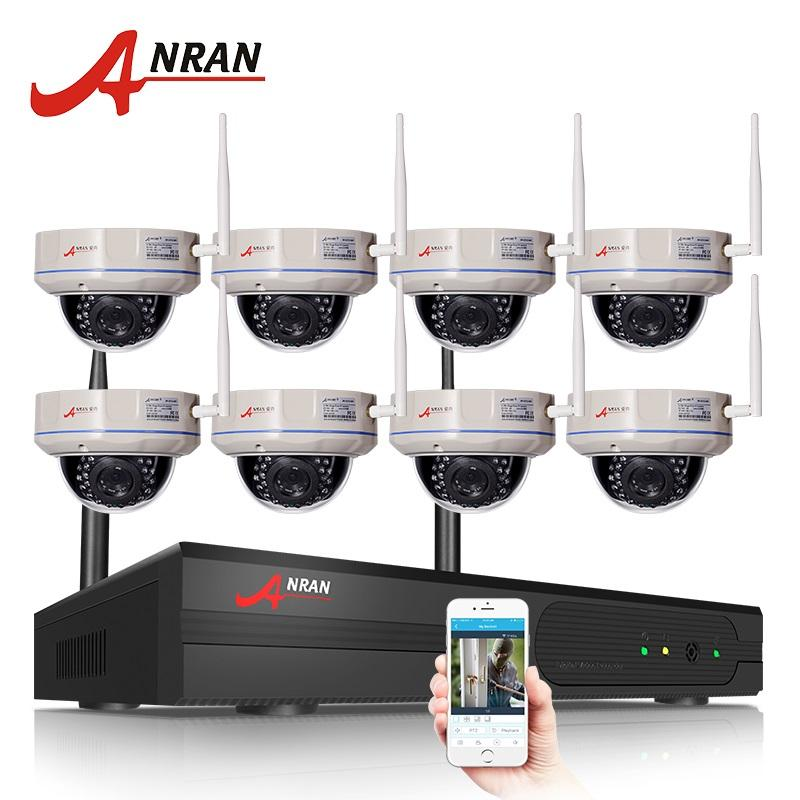 ANRAN 8CH NVR Wireless CCTV System 960P HD IR Night Vision Dome Security IP Camera WIFI Surveillance System
