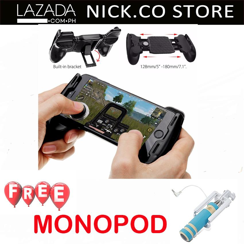 Expandable Portable Gamepad with Single Joystick Android and IOS WITH MONOPOD