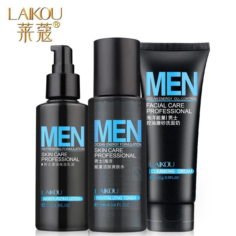 LAIKOU Skin Care Set Men Cleansing Foam Lotion Emulsion Summer Oil-control  Water Moisturizing Makeup Product