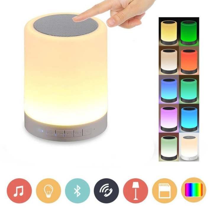 1.6W Warm White Light Of LED Touch Lamp Bluetooth Speaker - White