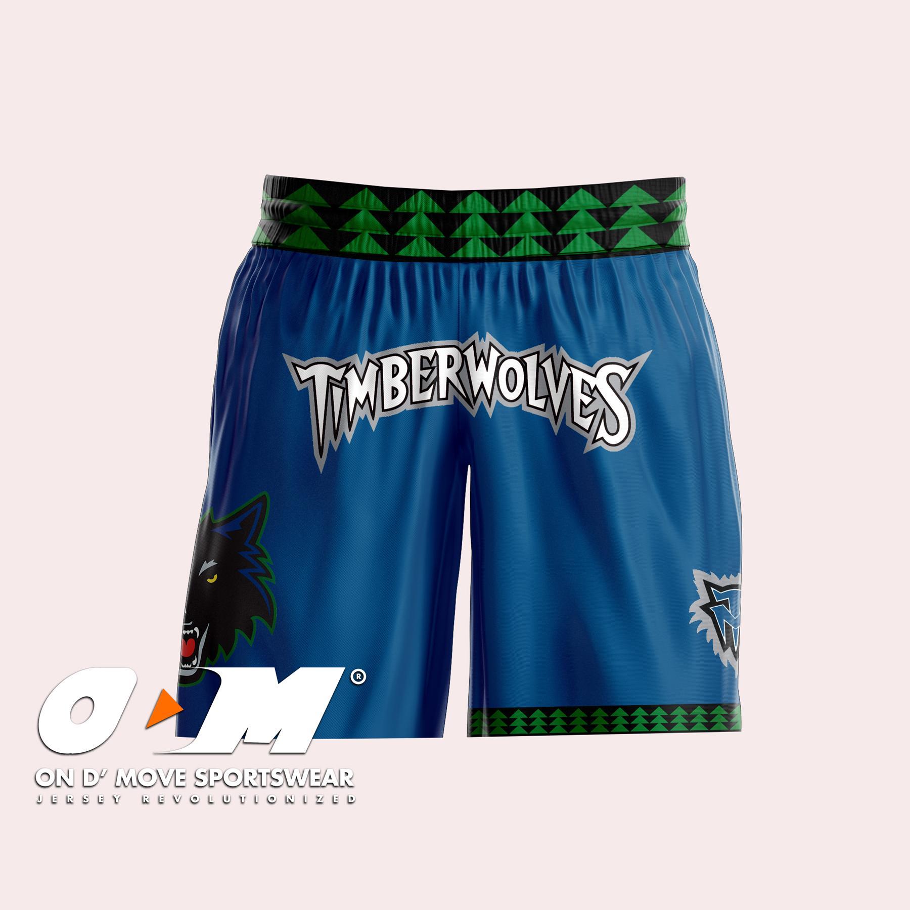 newest e1b20 79e72 Minnesota Timberwolves Blue Retro Shorts
