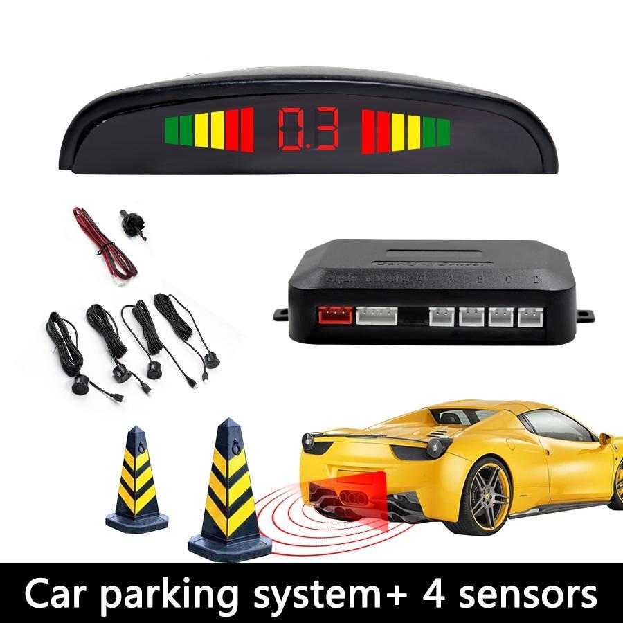 4 Parking Sensors LED Car Backup Reverse Radar Kit with Digital Colored LED  Display (Black) | Lazada PH