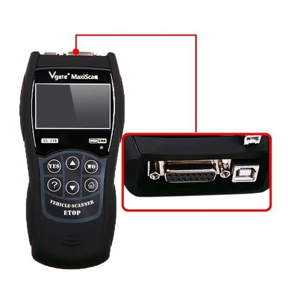 OBD2 Scanner Maxiscan Vgate VS890 OBD Engine Fault Code Reader Analyzer  ODB2 EOBD JOBD Car Diagnostic Scanner VS-890 - intl
