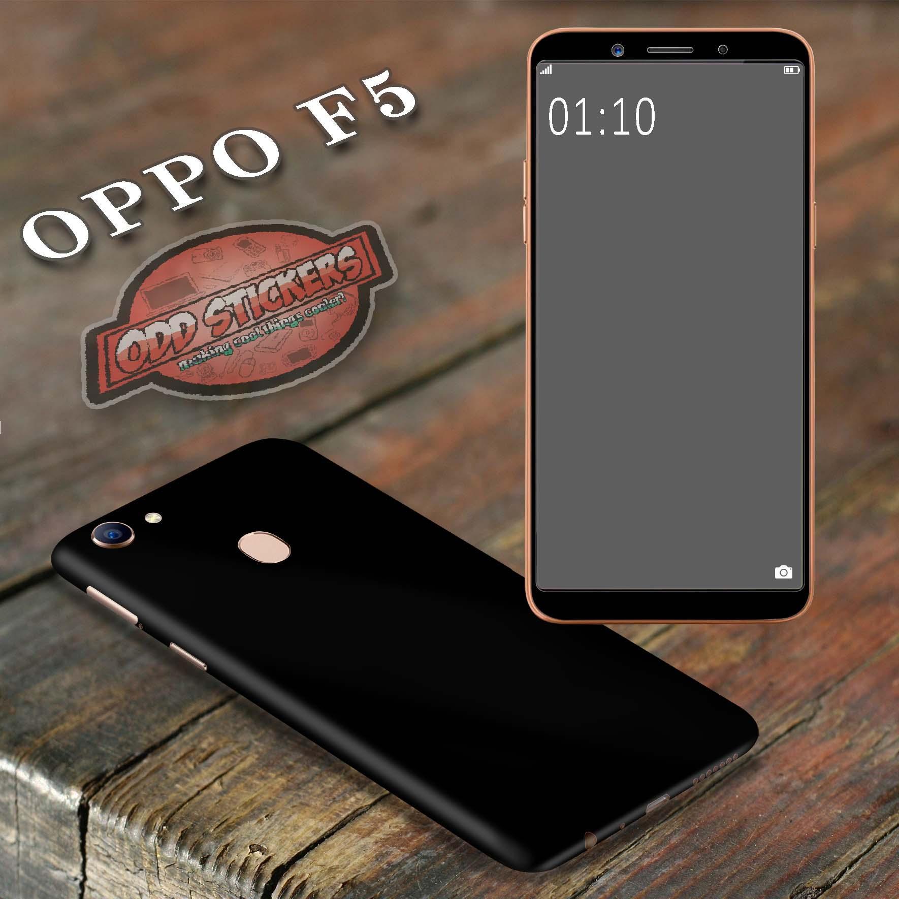 Oddstickers Phone Skin Cover for Oppo F5 satin black
