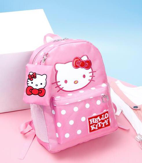 ABS  2in1 Kitty Polka Backpack