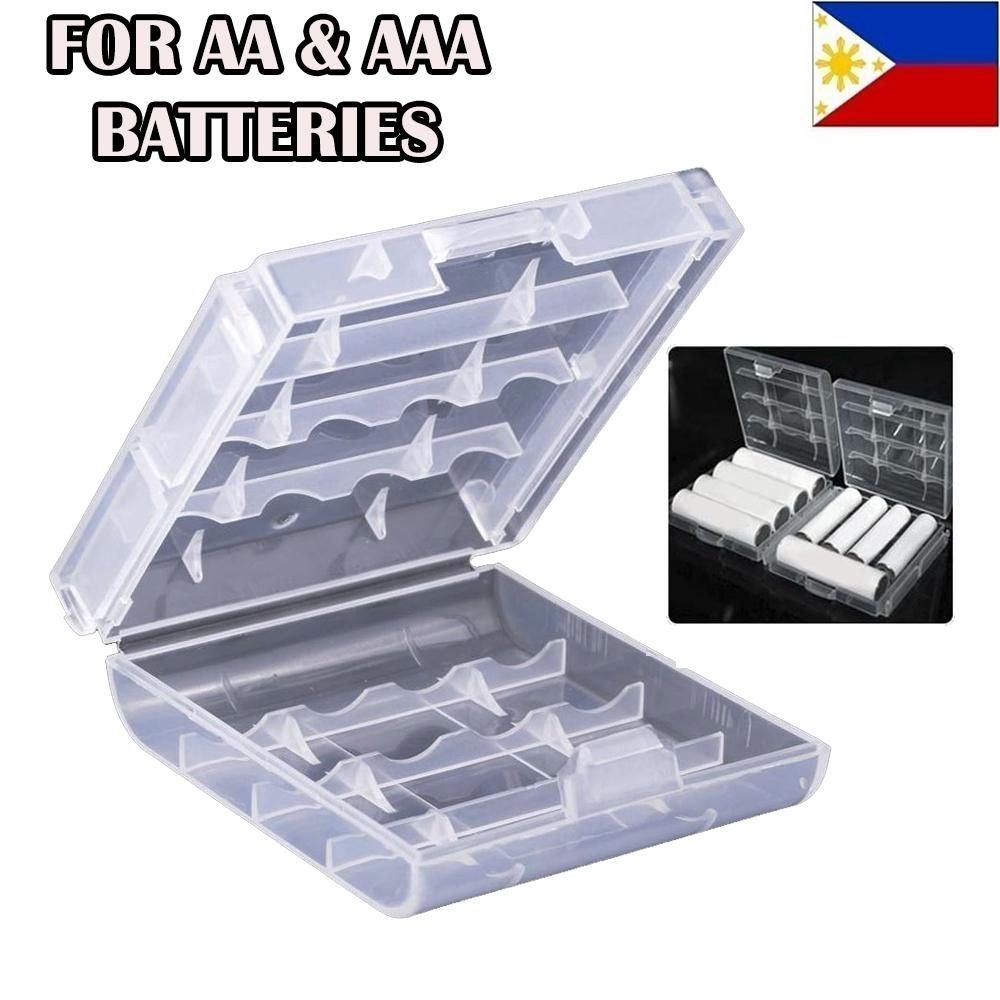 Battery Case Holder Box LR6 LR3 AAA AA Rechargeable Battery Clear Case cover