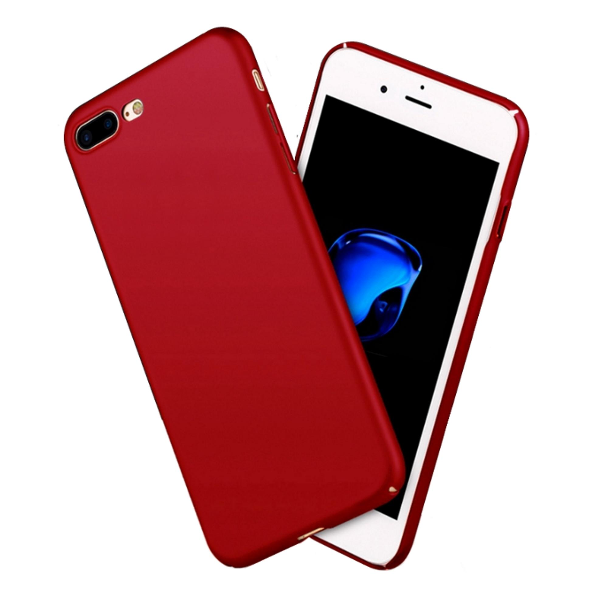 X-Level Slim Matte Rubberized Finish Hard Case For iPhone 7 Plus (Red)