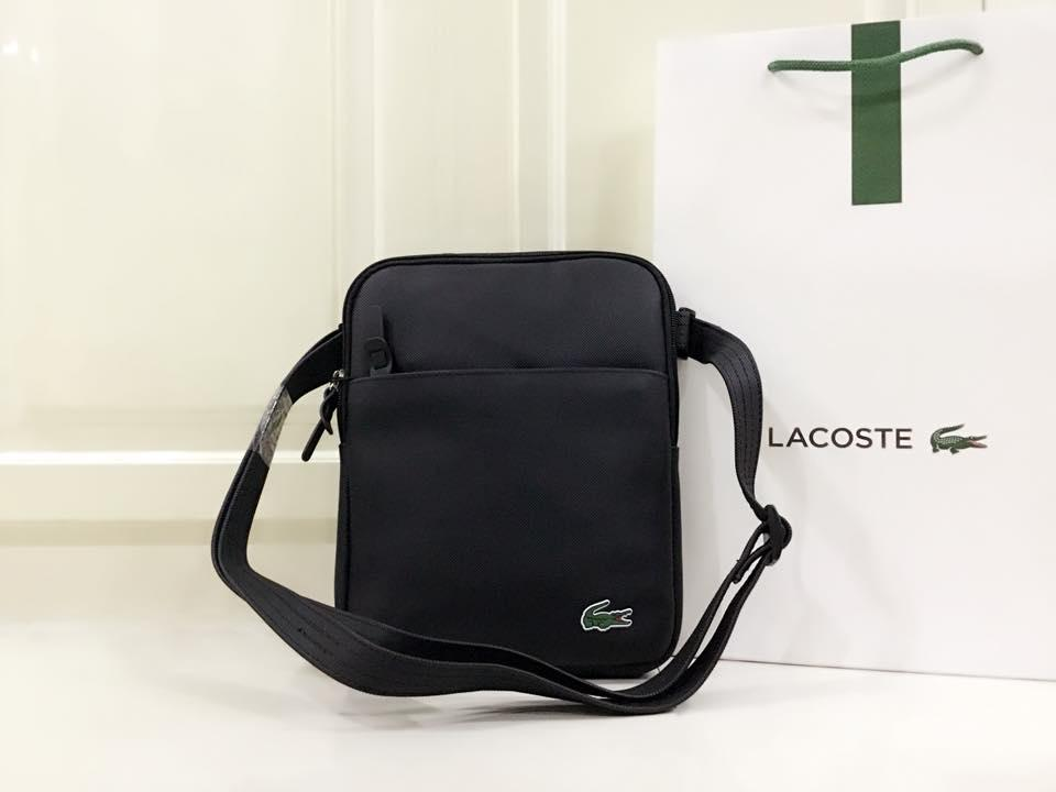e72bb23a HIGH QUALITY LACOSTE BAG FOR MEN PVC LEATHER WITH STITCHES