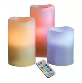 Luma Candles Flameless Changing LED Light with Remote Control Timer image