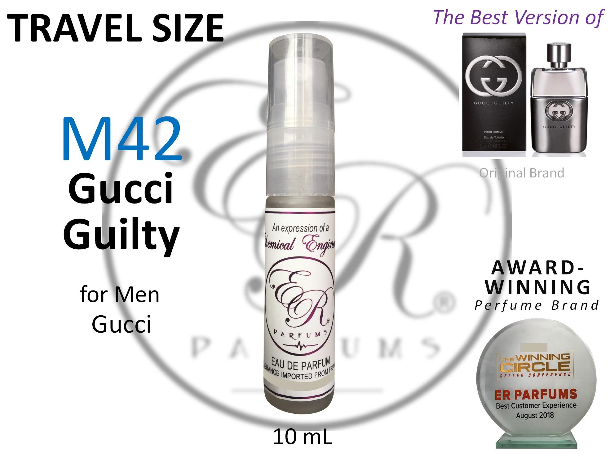 ER PARFUMS M42 Gucci Guilty for Men by Gucci 1 piece 10 ml TRAVEL SIZE - BEST VERSION