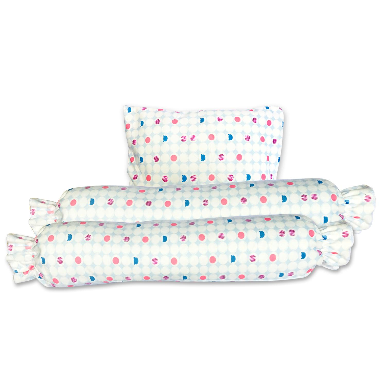 Smart Babies Bolster And Pillow Set Premium Fabric Blue Lazada Ph
