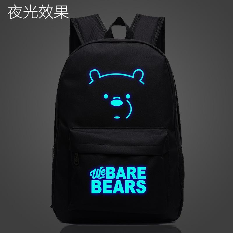 Our Bare Bear Canvas bag bags Men And Women Couples Backpack Anime Polar Bear School bag bags we Bare Bears Backpack