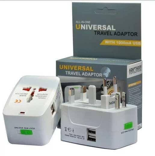 Universal Power All in 1 Adaptor Travel Plug Electrical Converter USA UK Europe