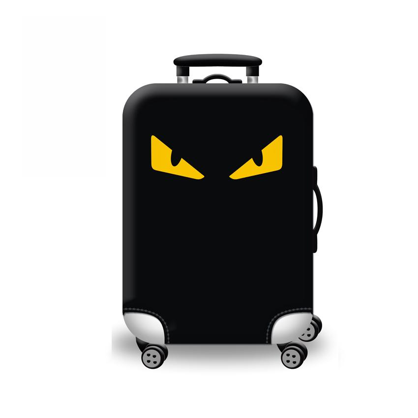 (Cover only) Elite Luggage Cover / Suitcase Cover  ( Yellow Eye ) - medium