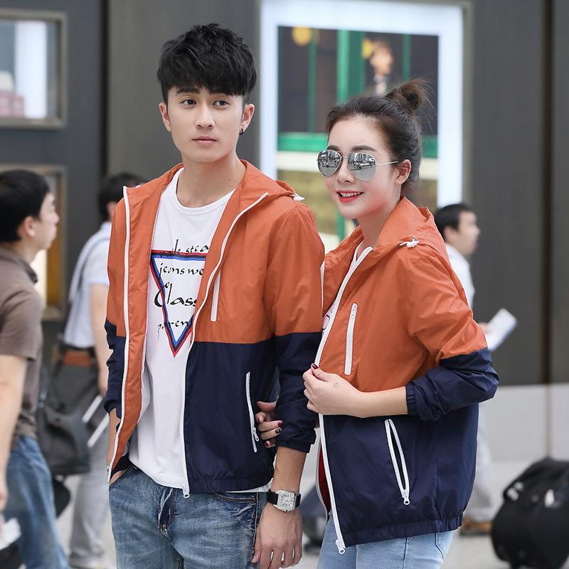 1499d545ad Product details of 2018 Couple Clothes Hooded Thin Jacket man Korean Style  Autumn Men's Wear Sports Teenager Autumn Jacket Coat