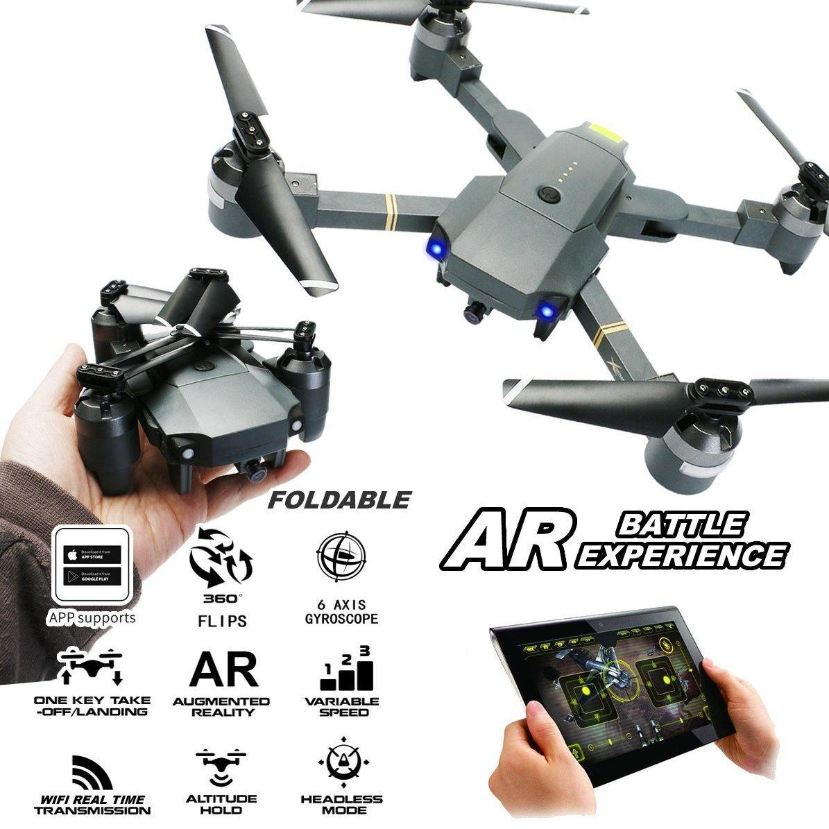 XT-1 RC Drone Foldable 720P HD Camera Wide Angle 6-Axis Wifi Real-time Transmission