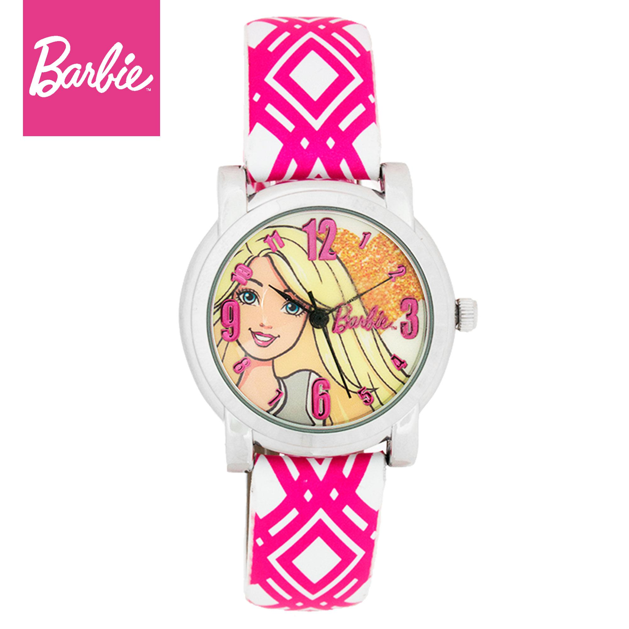 Barbie Girls Multicolor Leather Strap Watch BBOUFW16-105 (Fashion Series)