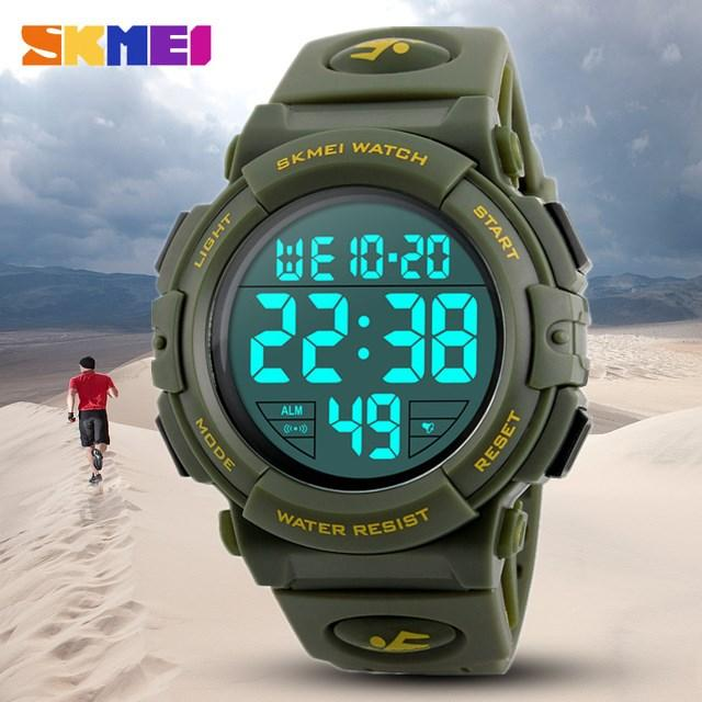 SKMEI New Sports Brand Watch Men's Chronograph Large LED Watch Men's Diving Watch Waterproof - International