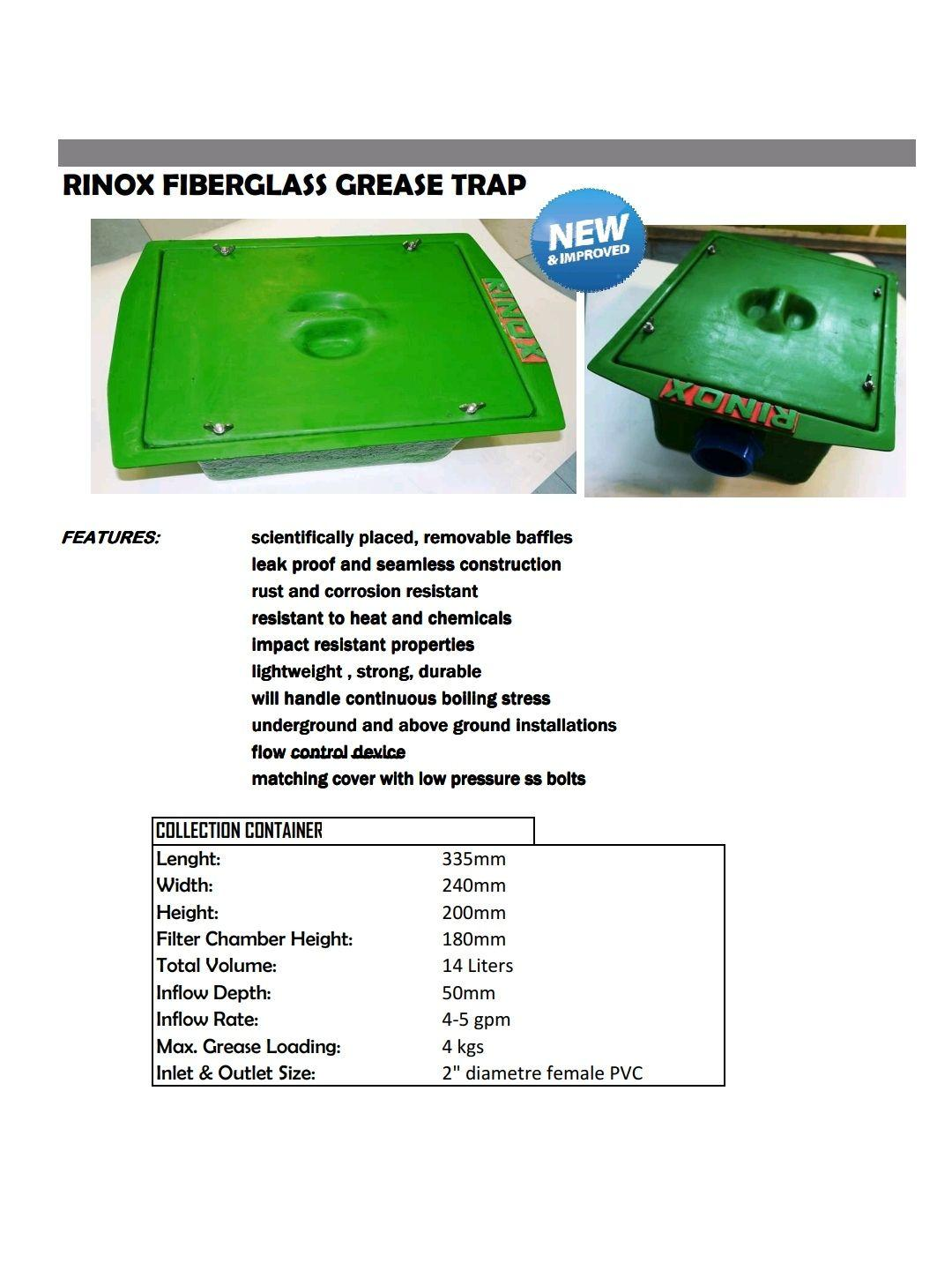 Rinox Grease Trap (Green/Grey): Buy sell online Traps & Drains with cheap price | Lazada PH