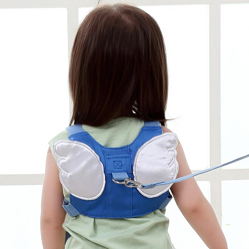 Children Baby Anti Lost with Hand Holding Rope Safe Baby Walking Wings Anti-separation Rope Kids Anti-Go Lost Backpack Summer image on snachetto.com
